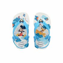 Ojotas Havaianas Mickey Baby Original Elastico 19/24 Oferta