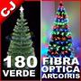 Arbol Verde 180 Fibra Optica Arcoiris Navidad Envio Inmediat