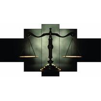 Quadro Decorativo Direito Escritório Advocacia Balança
