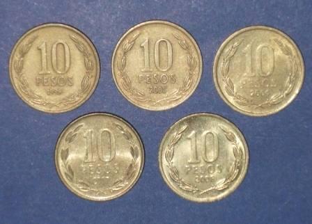 Resultado de imagen para monedas de 10 pesos chilenos