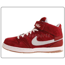 Nike Zoom Mogan Mid 2 6.0 Red Suede Classic Casual Amazing