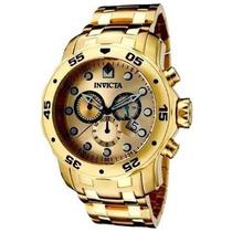 Relógio Invicta Pro Diver Scuba 0074 -banhado Ouro 18k