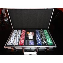 Set De Poker Estuche 300 Fichas 11.5 G. Maletin De Aluminio