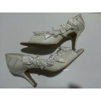 Sapato Para Noiva Número 37 Branco Usado 1 Vez