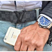 Cinturón Louis Vuitton Damier Ebene95 Cm (31-34 De Pantalón)