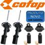 Kit 2 Amortecedor Dianteiro Honda Fit 02-08 Cofap+coxim+kits