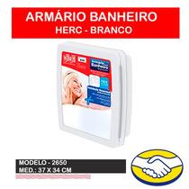Armário Para Banheiro C/ Espelho Herc 34x37x10 Várias Cores