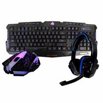 Kit Teclado, Mouse Gamer G79 Y Audifonos Eagle Warrior