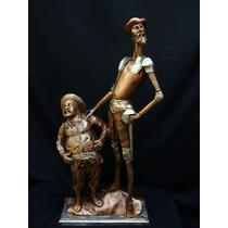 Escultura Don Quijote Y Sancho Figura Apariencia Bronce 960