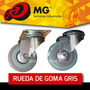 Rueda Goma Gris Pisos Desplazamiento Mg Audio Muebles Gira