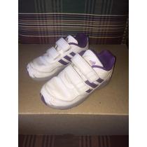 Adidas, Zapatillas De Nena, En Cuero, Con Abrojos, N 25,5