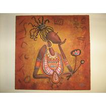 Pintura Africana - Oleo Sobre Tela Con Textura