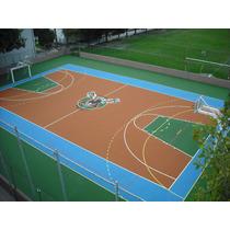 Construccion De Canchas De Tenis Basquetbol Volleybol Futbol
