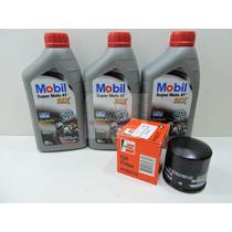 Kit Troca De Oleo E Filtro Fram Mobil 4t Mx 15w50 Ma2 Api Sl