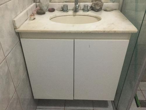Adesivo De Parede Sjc ~ Armário Para Banheiro Com Pia Em Mármore Branco R$ 600