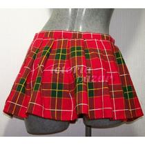 Minifalda Escocesa Color Roja Talla Chica