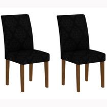 Conjunto 2 Cadeiras Grecia Rufato Ypê/imperial Preto