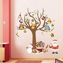 Decoración Wda Feliz Navidad Etiquetas De La Pared Feliz Añ