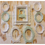Combo 10 Marcos Decorativos, Oval, Vintage, Shabby, Rococo