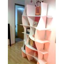 Trendy Space, Librero Wave Diseño Minimalista
