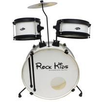Bateria Infantil Rmv Rock Kids Bumbo 18 Baqueta Prato Banco
