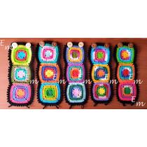 Brazaletes Tejidos Cuadros De Colores Paquete 2 Piezas