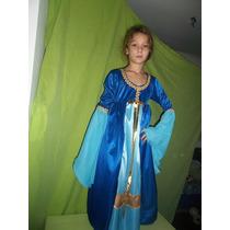 Vestido De Princesa Medieval, Disfraz Niñas