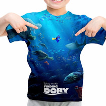 Camiseta Infantil Filme Procurando Dory Animação Md02