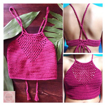 Crop Top, Bralette,biikini Tejida En Crochet