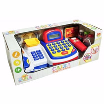 Caixa Registradora Infantil Com Som Luz E Acessorios Dm Toys