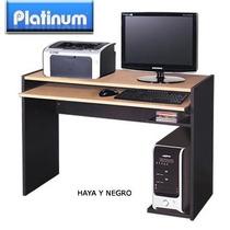 Mesa De Computación Platinum Haya Y Negro