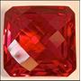 Rsp 2581 Topázio Vermelho Square 17,8x17,4 Com 35 Ct