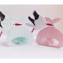 Souvenirs Bebe Cigueña Recien Nacido Baby Shower X10