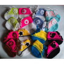 Zapatos Converse Tejidos Crochet Bebé Niño Niña
