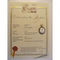Relógio Patek Philippe De Bolso, Peça De Museu!!!