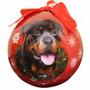 Esfera Navideña Esmaltada Rottweiler - Hermosa!