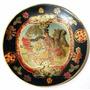 Prato Em Porcelana Chinesa Pintura Á Mão Alto Relevo 21,5cm