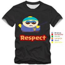 Camisetas South Park Engraçadas Cartman Camisa 100% Algodão