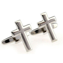 Mancuernillas Cruz Cristiano Jesus Sacerdote Camisa Acero