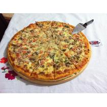 Tabla Madera Pino Circular Plato Para Pizza Redonda 16