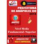 Apostila Digital Concurso Prefeitura De Anapolis Go 2015