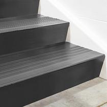 Contrapaso De Vinil Negro Para Escalera De 182cmx17cm