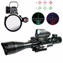 Mira Telescopica Holografica 4x12x50 Laser
