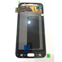 Display Samsung S6 Flat Blanco, Dorado.