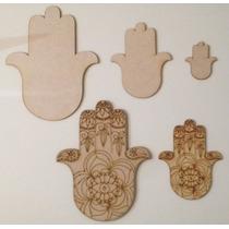 Mano De Fatima - Pack Formas Figuras Fibrofacil Mdf Láser