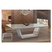 Mesa De Jantar Em Resina 250x120 Resina Branca