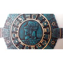 Escultura Decorativa Escudo Azteca Maya