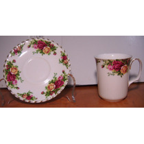 2 Tazas Tipo Cubilete Con Plato Old Country Roses
