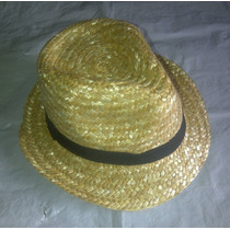 Sombreros Estilo Borsalinos De Paja. Unisex. Talla Unica
