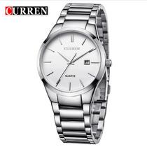 Relógio Importado Curren Casual Masculino Branco - Prata